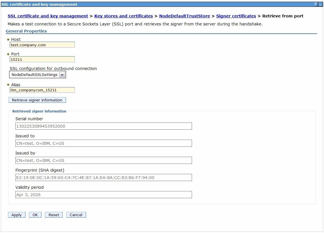 Importing The Ibm Tivoli Monitoring Ssl Certificate
