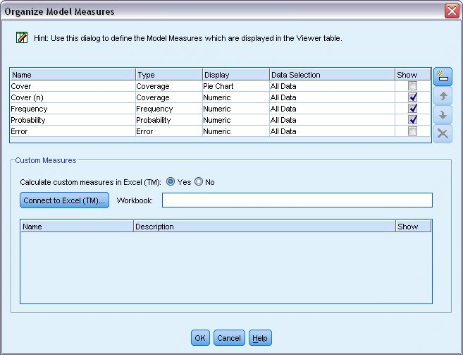 Calculating custom measures using Excel