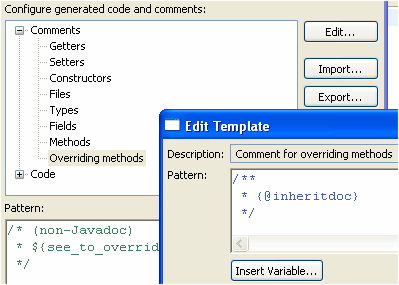 eclipse comment template - tips and tricks jdt