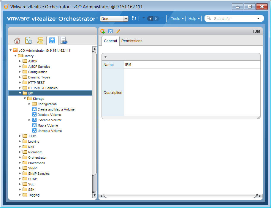 Using the IBM Storage Plug-in for VMware vRealize Orchestrator