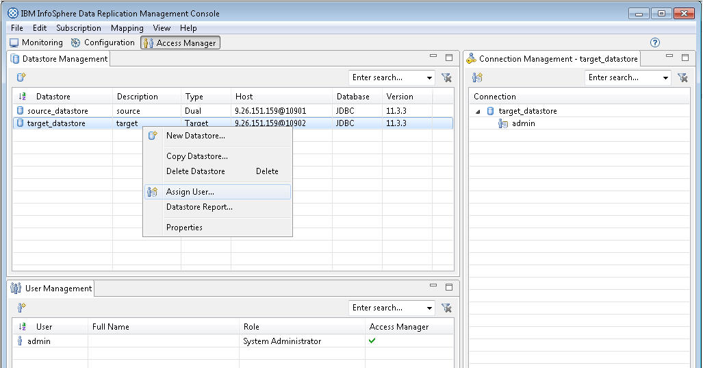 Connecting InfoSphere Data Replication to a Db2 database   IBM