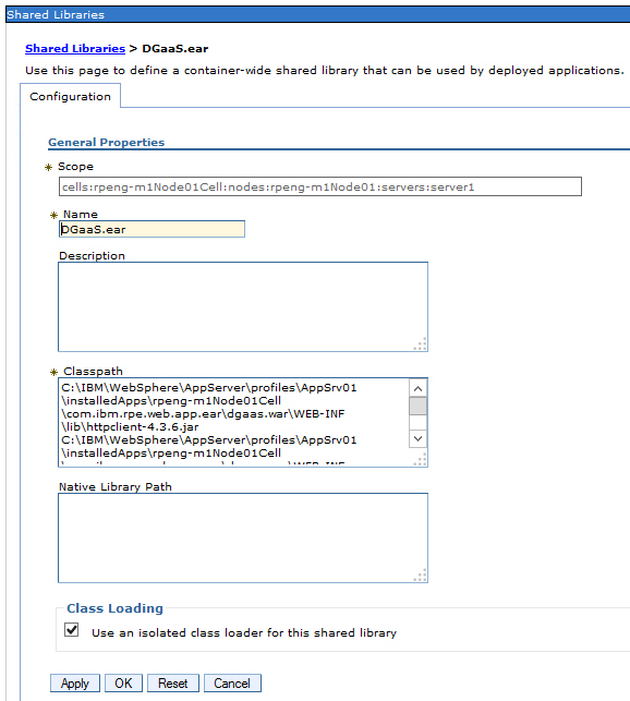 Deploying the web app on WebSphere Application Server in IBM