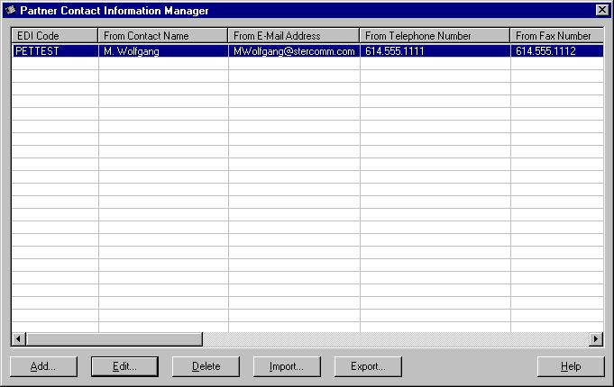 Partner Contact Information Manager Dialog Box