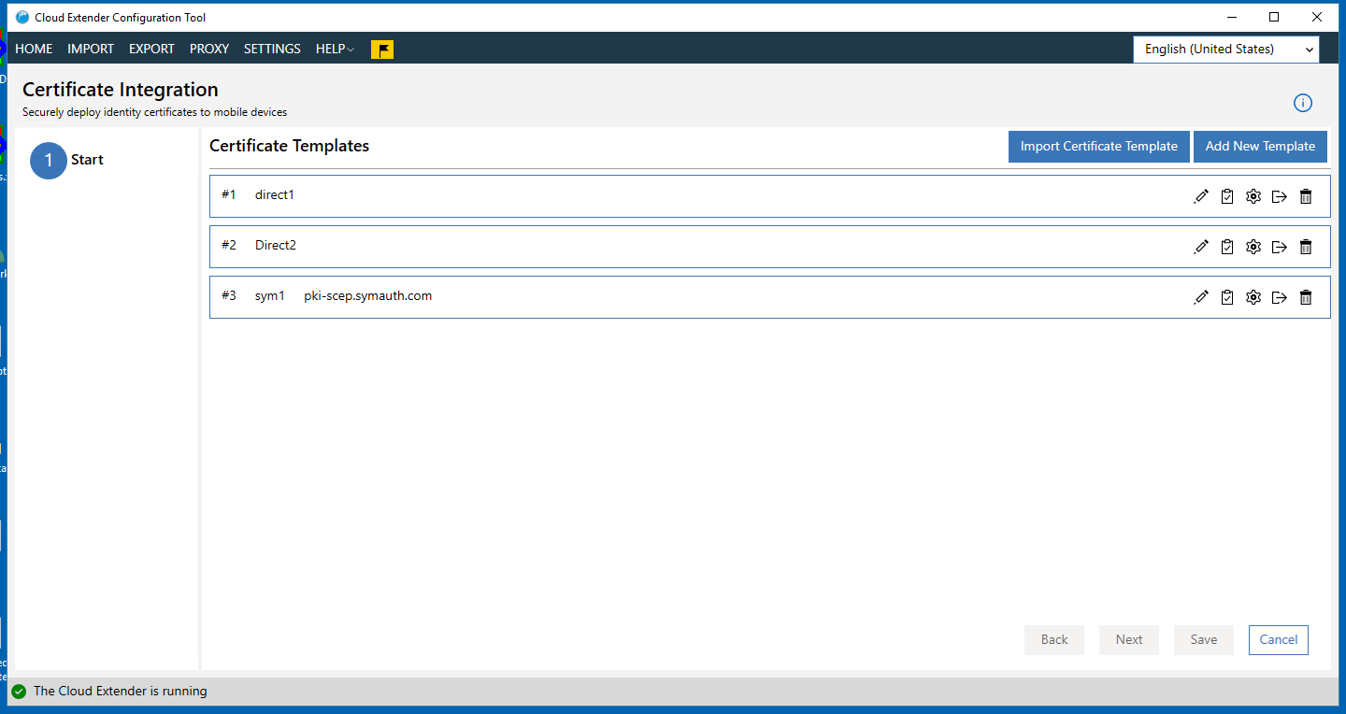 Configuring direct certificate authority access to a