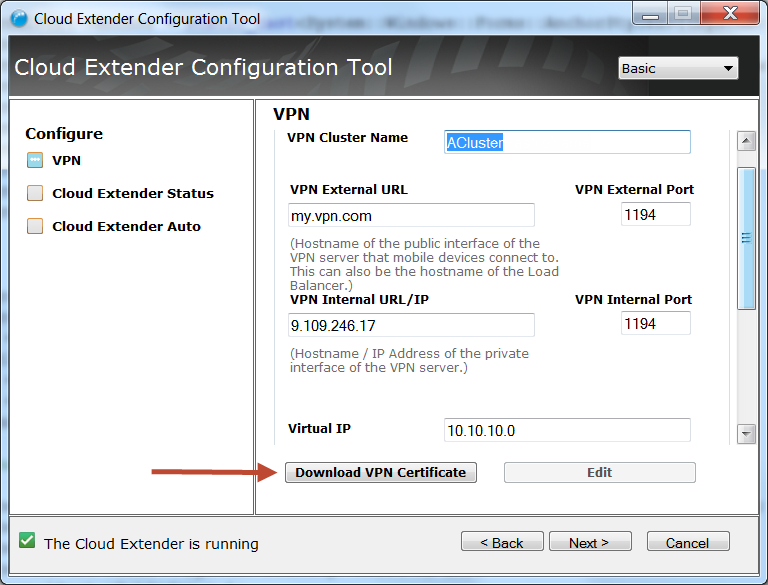 Setting up a cluster for MaaS360 VPN