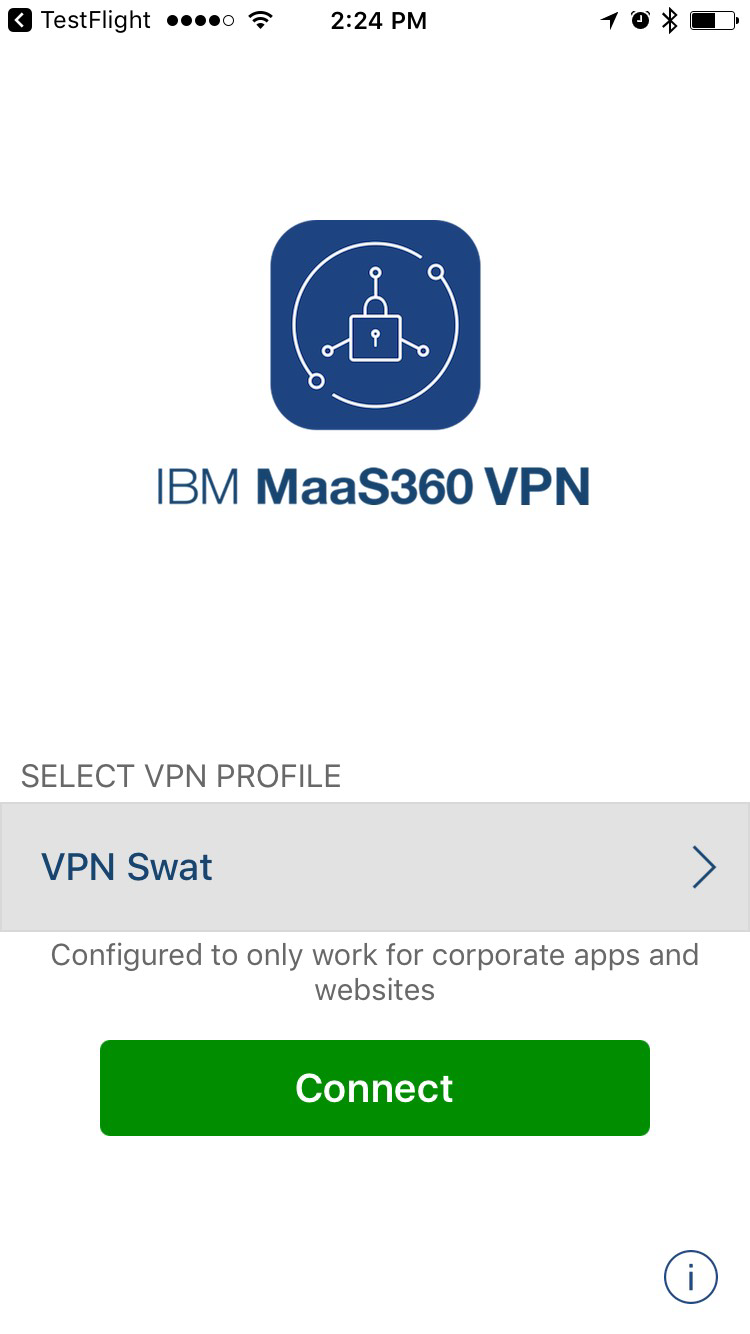 Installing the MaaS360 VPN app