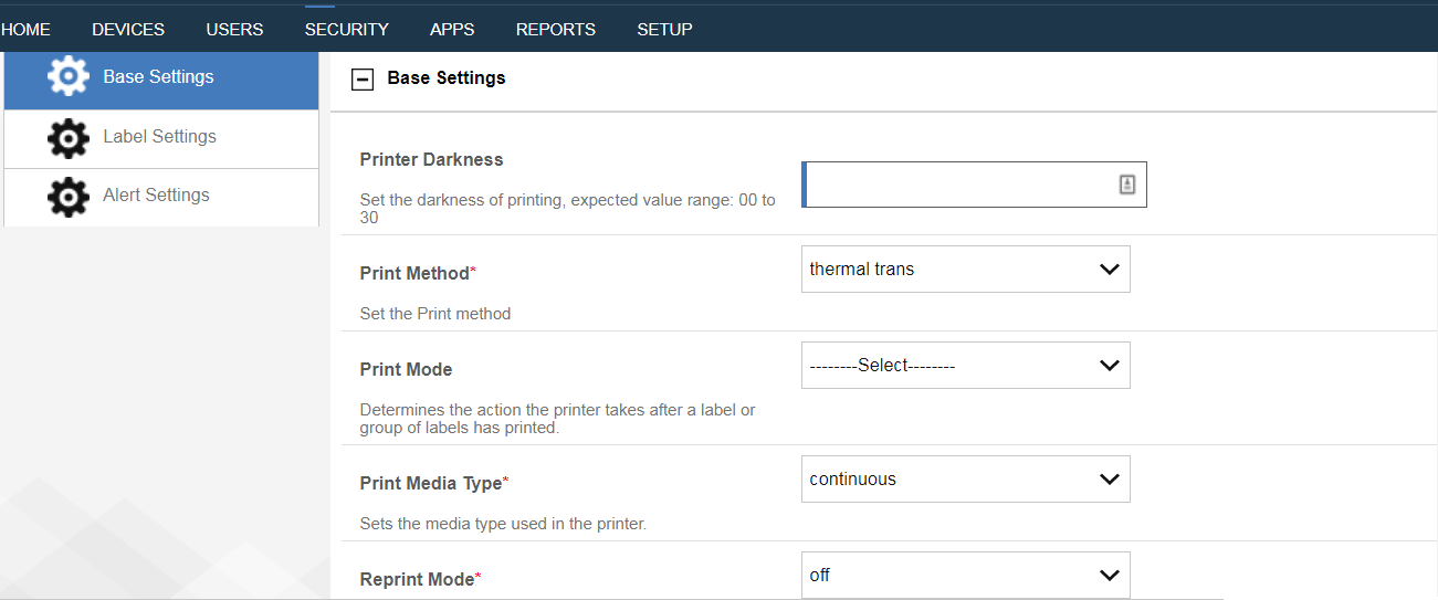 Configuring a Zebra Printer policy in the MaaS360 Portal
