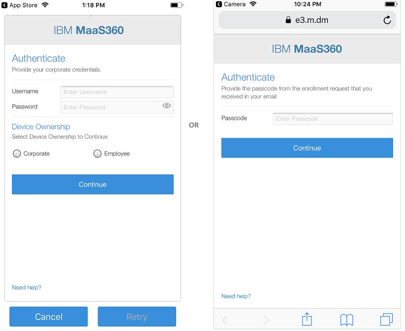 Enrolling your iOS device (MDM)