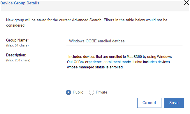 d86b6aef11f Creating a device group from Advanced Search results