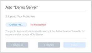 Downloading an MDM token from the Apple DEP Portal