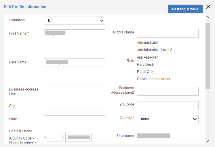 Managing account details in the MaaS360 Portal