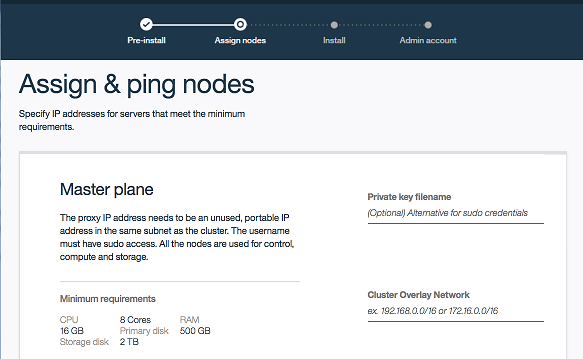 Assign and ping three nodes screencap