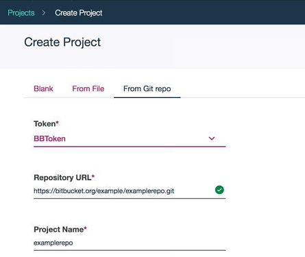 Git repository projects | IBM Watson Studio Local