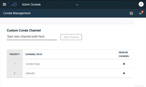 Manage conda channels as a Watson Studio Local administrator | IBM