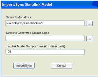 Simulation of the CruiseControlSystem example