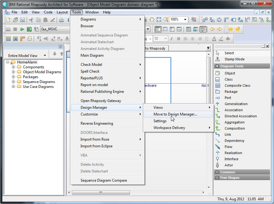 Deploying rhapsody predefined sysml and uml models to design manager ccuart Image collections