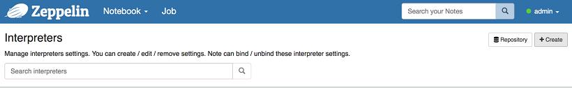 Configuring the Big SQL interpreter for Apache Zeppelin