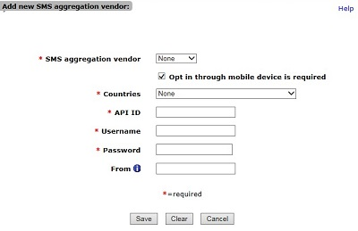 Configure SMS Text Messaging