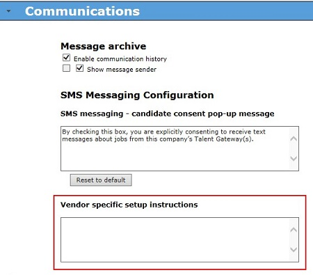 Configure SMS Text Messaging
