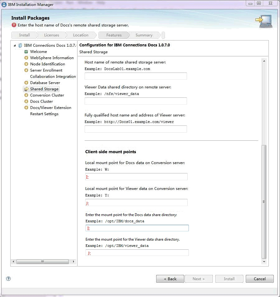 Mounting the CIFS share on a Windows server