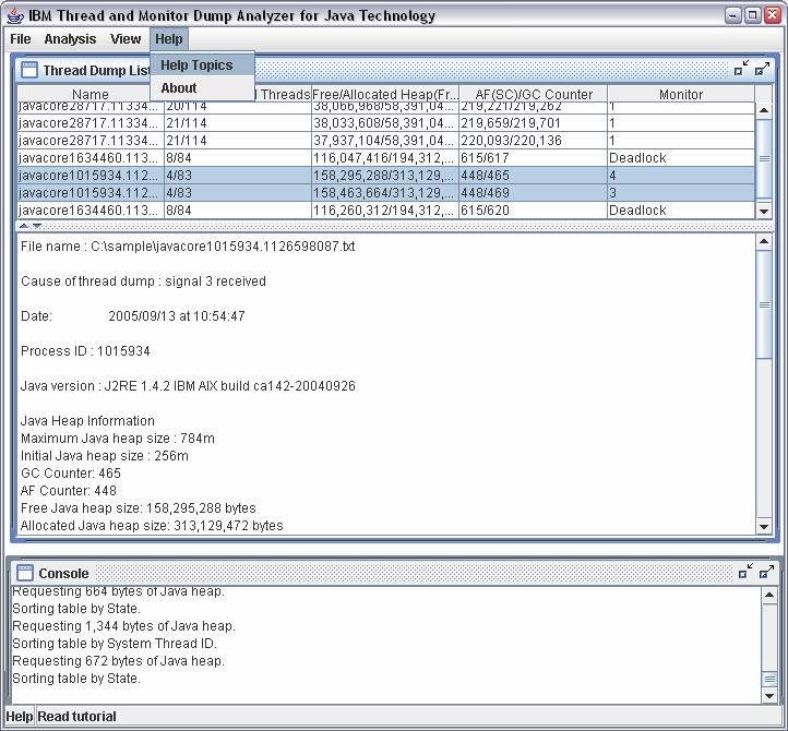 IBM Thread and Monitor Dump Analyzer for Java