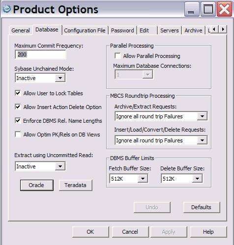 Database Tab
