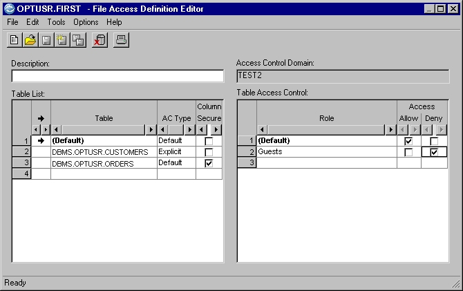 File Access Definition Example