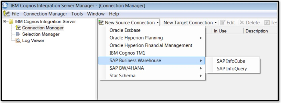 Move data from SAP BW InfoCubes or InfoQuery to TM1