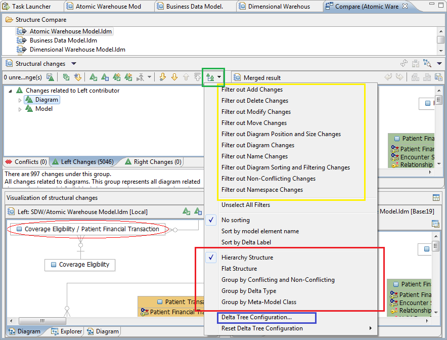 Performing Compare Or Merge Sessions In Infosphere Data Architect