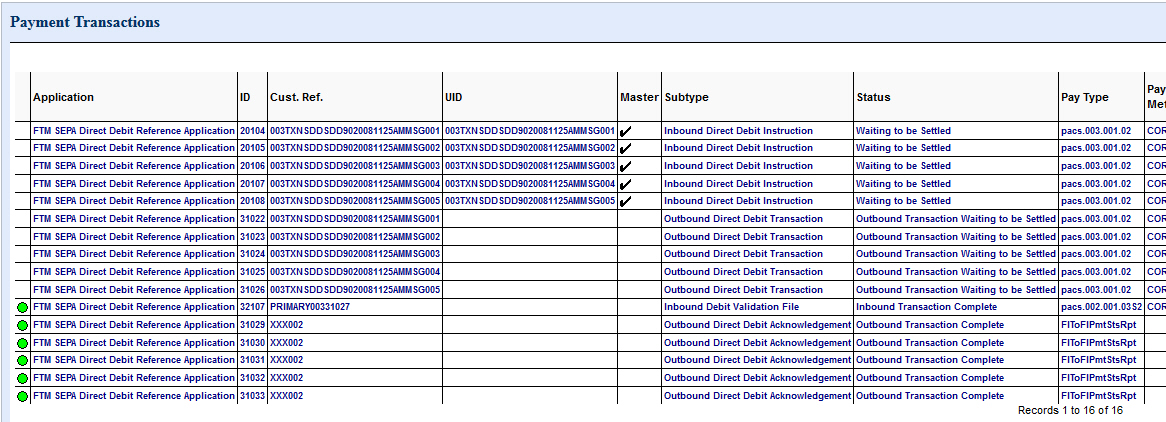 how to find a list of direct debits