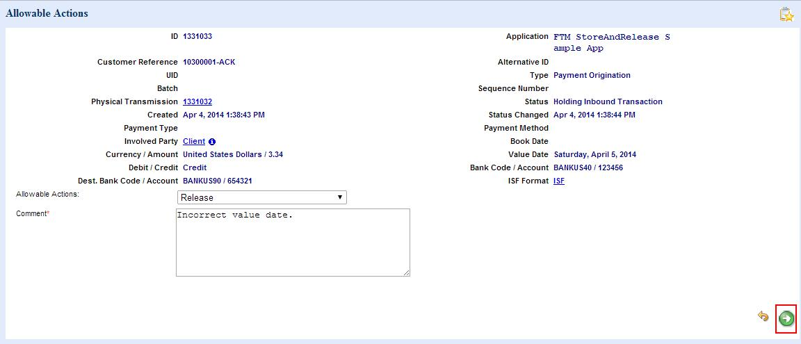 Using the store and release sample application