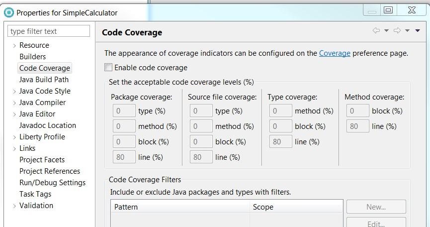 codeCoverage