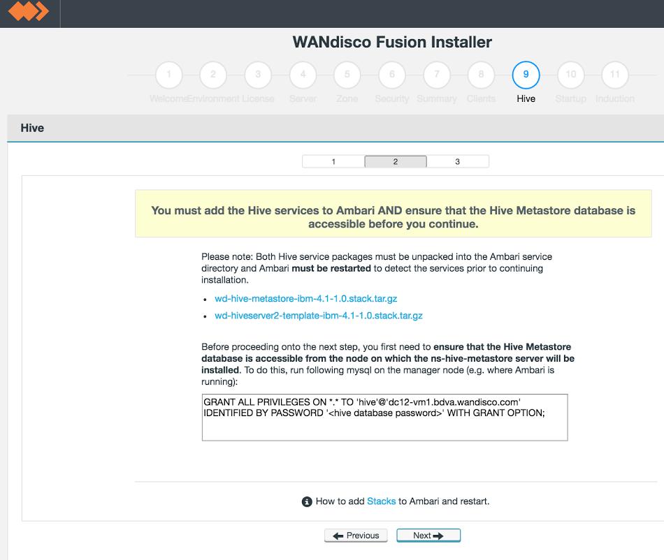 WD Fusion Plugin - Hive Metastore