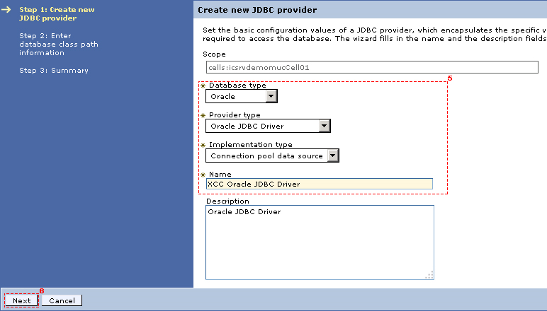 Creating an Oracle JDBC provider - IBM Connections
