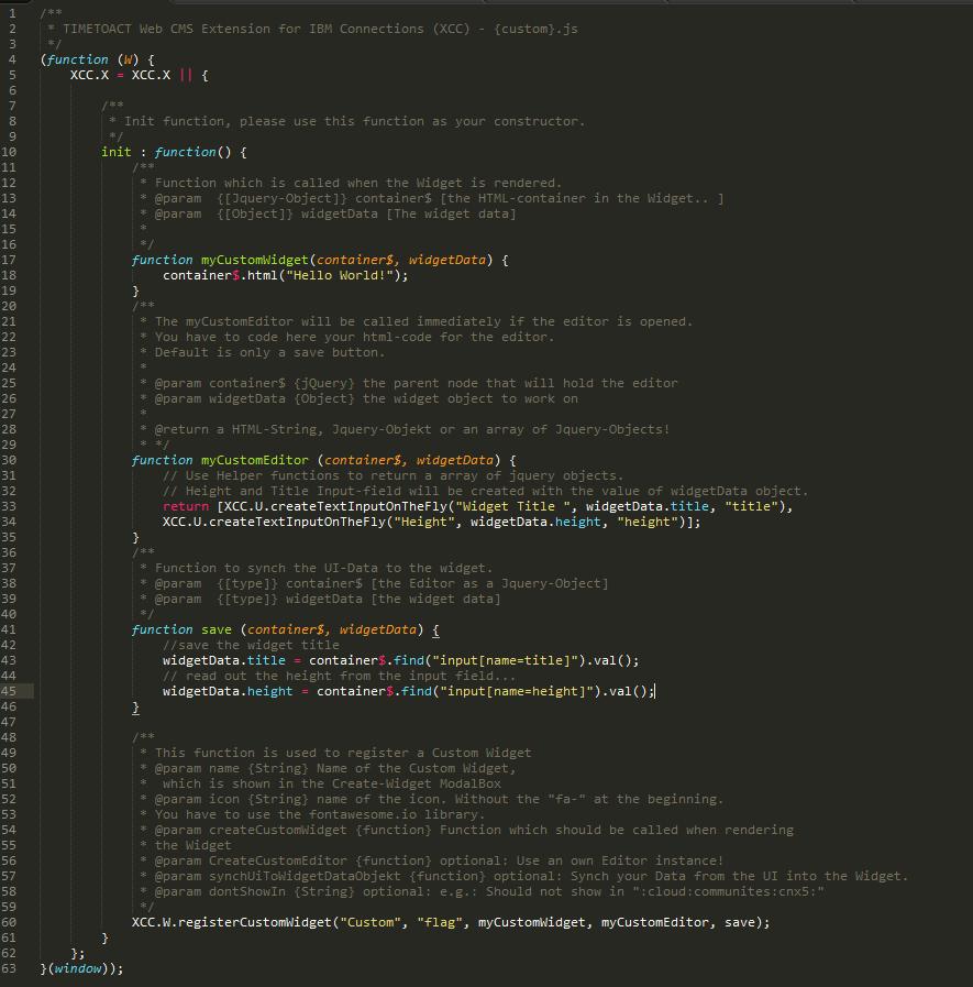 Creating a custom widget with the custom widget API - IBM