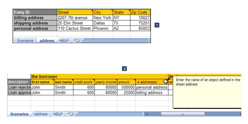 Archivos de escenarios Excel