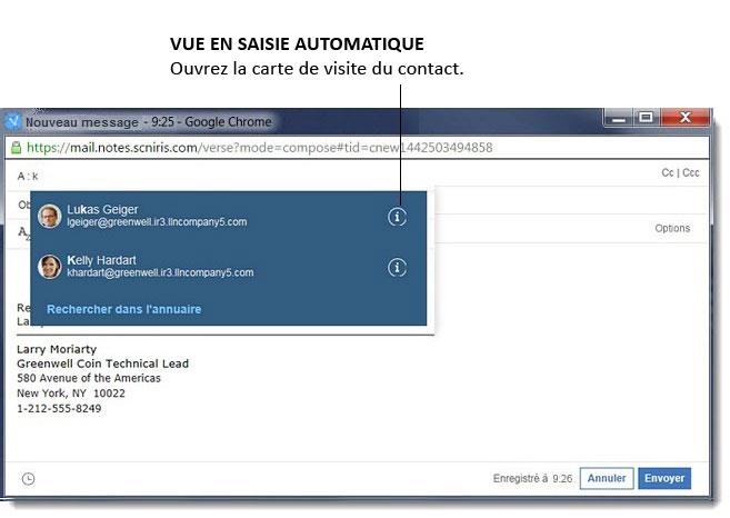 Comment Utiliser Les Cartes De Visite Pour Voir Informations Relatives A Mes Collegues Avec IBM Verse