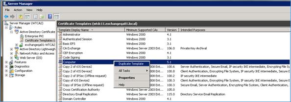 Configurando O Modelo De Certificado No Scep Server