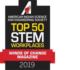 Top 50 STEM workplaces - winds of change manazine - 2019