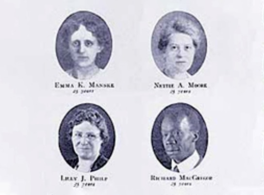 First women and black employees hired.