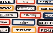 The IBM Think motto in multiple languages