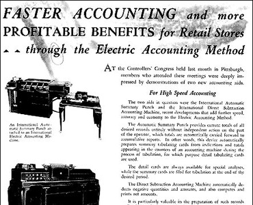 IBM Archives: Electric accounting machines (1932)