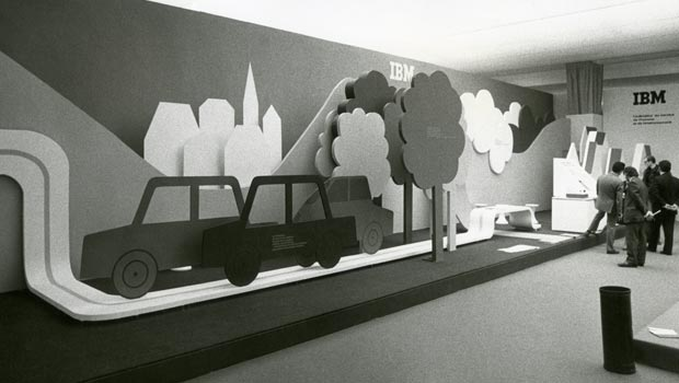 Archives image of an IBM environmental display