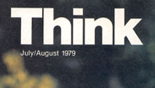 Think magazine cover with John Backus