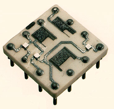 slt circuits mounted on 1/2-inch square  ceramic modules