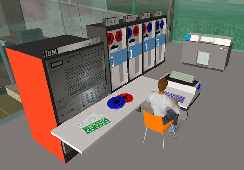 "IBM System/360 in magazine artwork ""Second Life"""