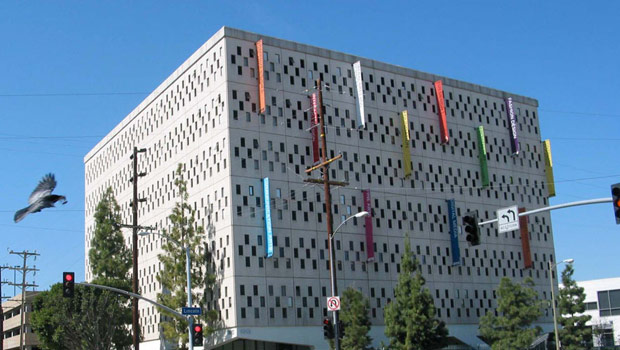 IBM building that looks like a punched card