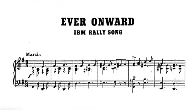 IBM rally song Ever Onward sheet music