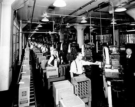 People working at carrol rotary presses