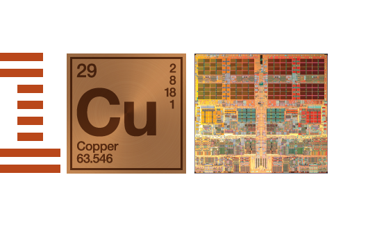 IBM100 Copper Interconnects: The Evolution of Microprocessors iconic mark